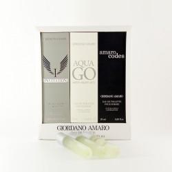 Zestaw perfumetek Giordano Amaro - Invitation, Aqua Go, Amaro Codes